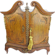 LAYAWAY   French Miniature Chest Fitted as a Letter Box