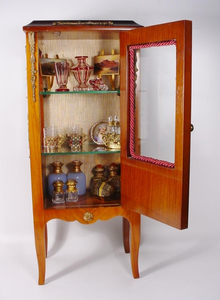 lovely vintage french style miniature vitrine curio from. Black Bedroom Furniture Sets. Home Design Ideas