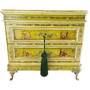 "LAYAWAY Antique French Chinoiserie Decorated Miniature Chest  ""WONDERFUL & VF QUALITY"""