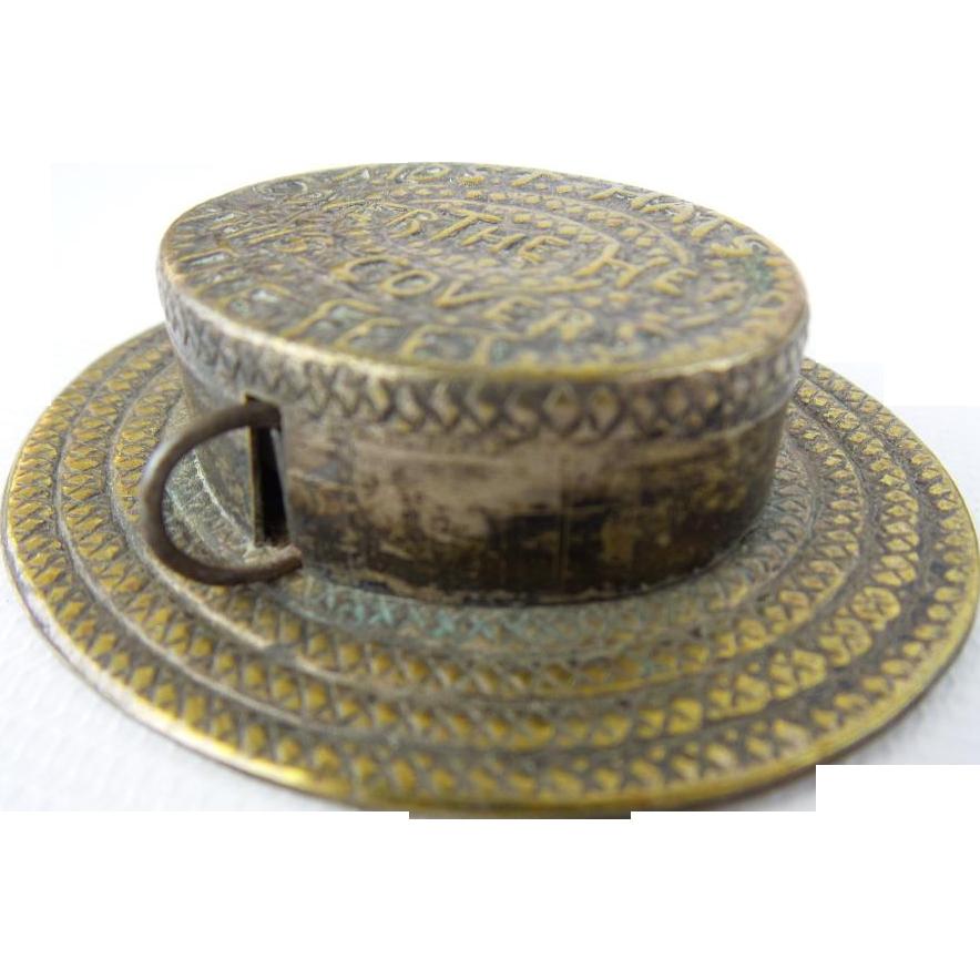 RARE Antique  Hat Shaped Tape measure