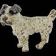 Antique Austrian Cold  Painted Bronze Fox Terrier Dog