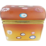 "Rare Vintage Murano Millefiori Dome Top Hinged Box ""KILLER"""