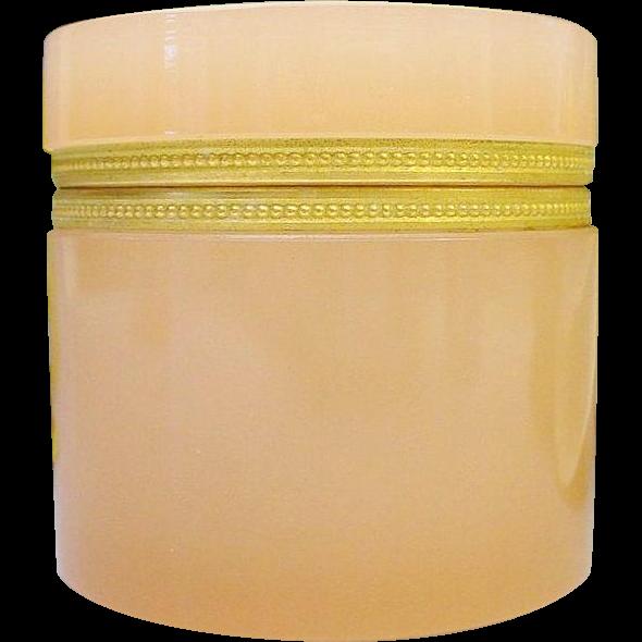 "Antique French Opaline Dresser Jar ""NICE ORMOLU"""