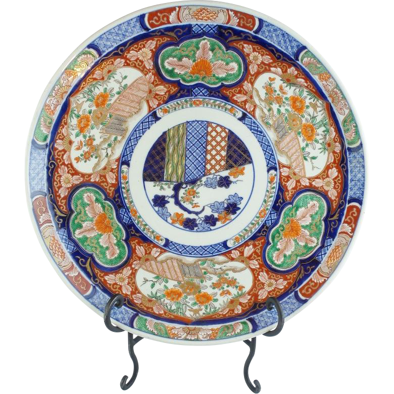 "17 ¾"" Japanese Imari Porcelain Charger "" ABSOLUTELY  AWESOME"""