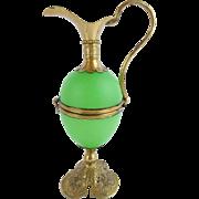 "AWESOME Palais Royal Green Egg Shaped Hinged Box ""EWER SHAPE"""