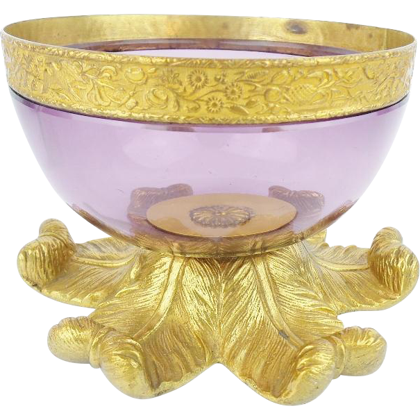 "Antique Amethyst Crystal  Bowl ""BEAUTIFUL"""