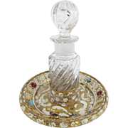 Antique Austrian Jeweled Enamel Perfume.