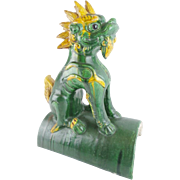 """LAYAWAY  19C Chinese Roof Tile    """"The Most Wonderful Foo Dog"""""""