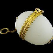 Palais Royal White Opaline Chatelaine Egg Box.