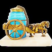 Palais Royal Opaline Inkwell Horse Cart.