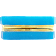 Antique French Blue Opaline Hinged Box