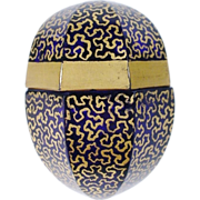 "Magnificent Antique Cobalt Crystal Scent Egg ""MOSER QUALITY"""