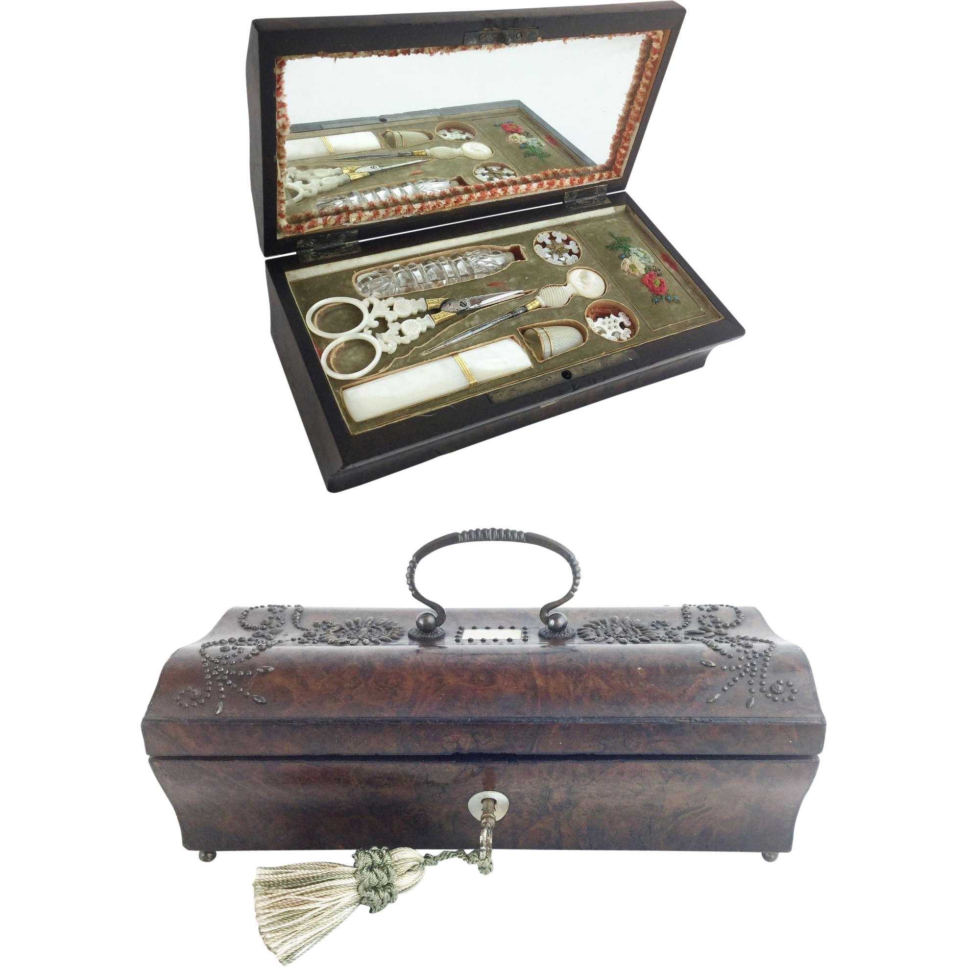 Antique Palais Royal Sewing Etui Box
