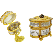 Antique French Scent Casket 'FABULOUS SCENT BOTTLES""