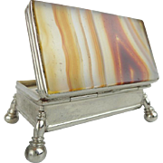 Antique Agate Stamp Trinket Box