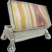 Antique Agate Stamp Trinket Box