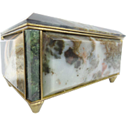 Antique Marble and Bronze Hinged Box - Red Tag Sale Item