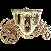 "Austrian Enamel Bronze Miniature Carriage Outstanding ""PUTTI & PASTORAL Scenes """