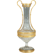"Antique French Crystal Vase ""MAGNIFICENT ORMOLU' Double Handles"