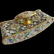 Antique  French Cloisonné Blotter