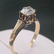 Antique  Oval Diamond Ring   14KARAT