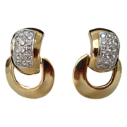 Grandest 14Karat Diamond Door Knocker Earring
