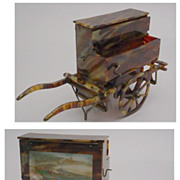 Antique Tortoise Music Cart with  Painting