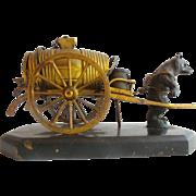 Antique Austrian Bronze Bear Barrel Etui