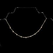 "14K  Diamond Necklace "" S T U N N I N G """