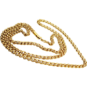 "26"" Double Link Chain Necklace 18KARAT  ""GRANDEST"""