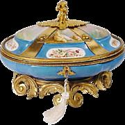 """Exquisite 12"""" Antique Sevres Style Porcelain Casket """"MASTERPIECE"""""""