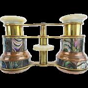 "Antique French Abalone Opera Glass "" Original  Case"""