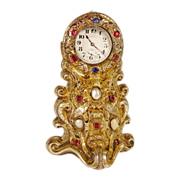 Spectacular  Antique French Jewel Watch Holder
