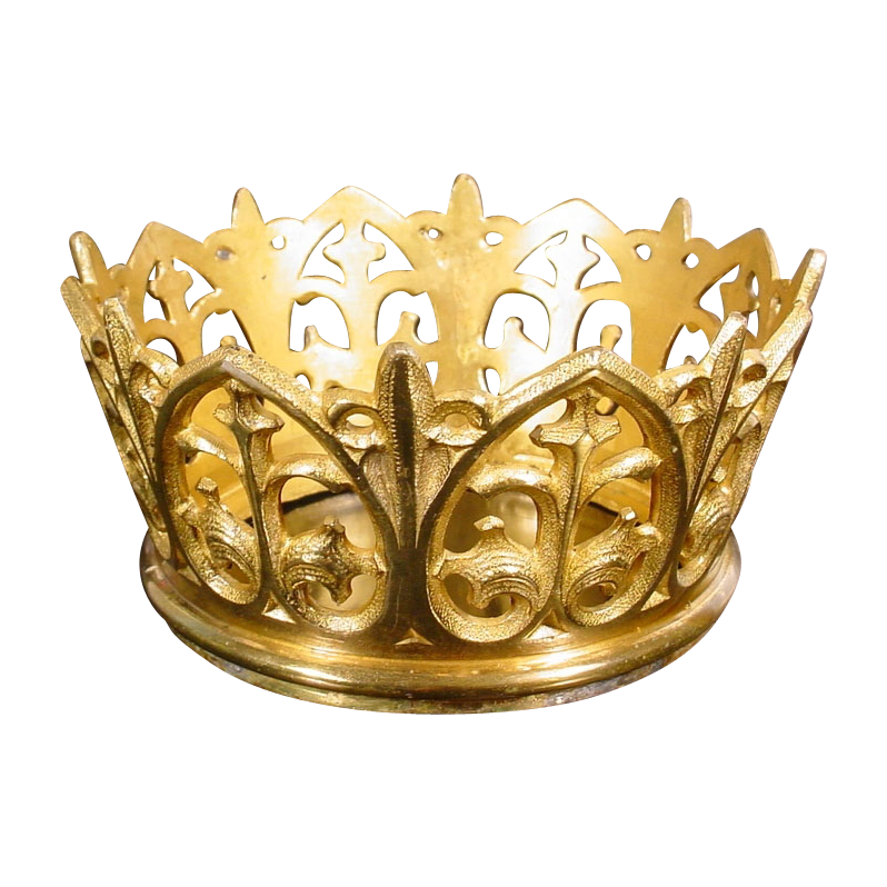 Antique French Bronze Crown