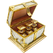 "Antique French Mother of Pearl Scent Casket ""EXQUISITE"""