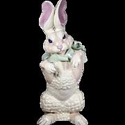 "RARE 22 ½"" Kay Finch Standing Rabbit ""BIG FLOPPY Scarf  & Bow"""