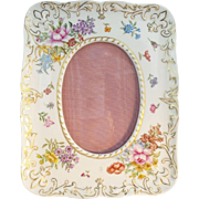 Exquisite  Antique French Porcelain Handpainted Table Top Frame