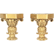 "Antique Gilt Wood Wall Display Brackets ""GRANDEST"""