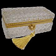 Antique French Cut Crystal Glove Box