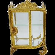 Grandest Antique French Miniature Curio Vitrine
