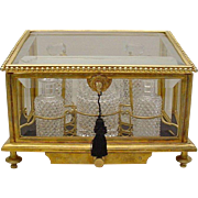 "Grandest Antique Baccarat Scent Casket ""EXQUISITE & BIG"""