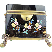 Antique Bohemian Double Handles Sugar Casket