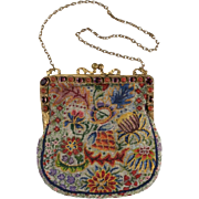 "Magnificent Austrian Jeweled Purse  ""AMETHYST & CARNELIAN"""