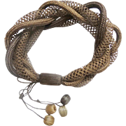 Antique  Mourning Woven Hair Bracelet …An Exquisite& BEAUTIFUL Woven Hair Treasure