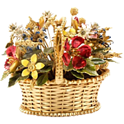 "Jane Hutcheson  Flower Basket ""COLORFUL &  BEAUTIFUL"""