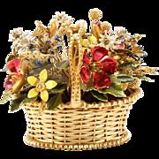 "Jane Hutcheson  Flower Basket ""COLORFUL &  BEAUTIFUL"""