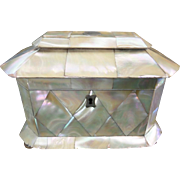 1840 English Mother of Pearl Tea Caddy