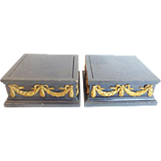 LAYAWAY. Pair French Ebonized  Plateaus....YES!  A Delightful Pair