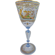 Amazing Venetian Glass Goblet