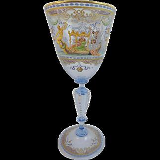 Amazing Venetian Glass Goblet